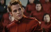 James T. Kirk in cadet's dress uniform