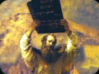 "<i><a href=""/wiki/Moses_Showing_the_Tables_of_the_Law_to_the_People"" title=""Moses Showing the Tables of the Law to the People"">Moses Showing the Tables of the Law to the People</a></i>"