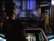 Reaktionskammer der Enterprise-D ist geöffnet