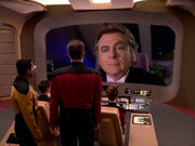 Riker fordert die Freigabe der Enterprise