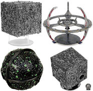 Star Trek Attack Wing Oversized Borg Cube and DS9