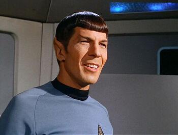 Ambassador Kollos in Spock's body in 2268