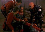 McCoy checks Gorkons pulse