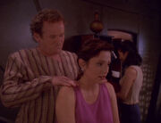O'Brien giving Kira a massage