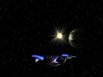 The <i>Enterprise</i> arrives in the Bringloid system