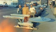 USS Enterprise eleven foot model with its actual builders