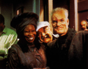 Whoopi Goldberg, John Alonzo and Malcolm McDowell