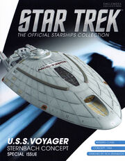 Star Trek Official Starships Collection USS Voyager Sternbach Concept cover