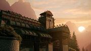 Sunrise at the Vulcan monastery planet