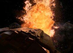 The ketracel white facility explodes
