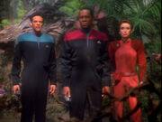 Bashir, Sisko, and Kira captured