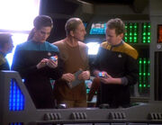 Dax, Odo, and O'Brien begin search