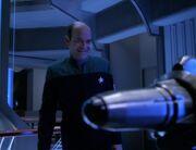Der Doktor unterhält sich mit der Massenvernichtungswaffe