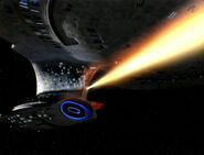 Enterprise-D feuert Phaser
