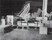 Joe Lombardi working on the electronics of the original USS Enterprise bridge set