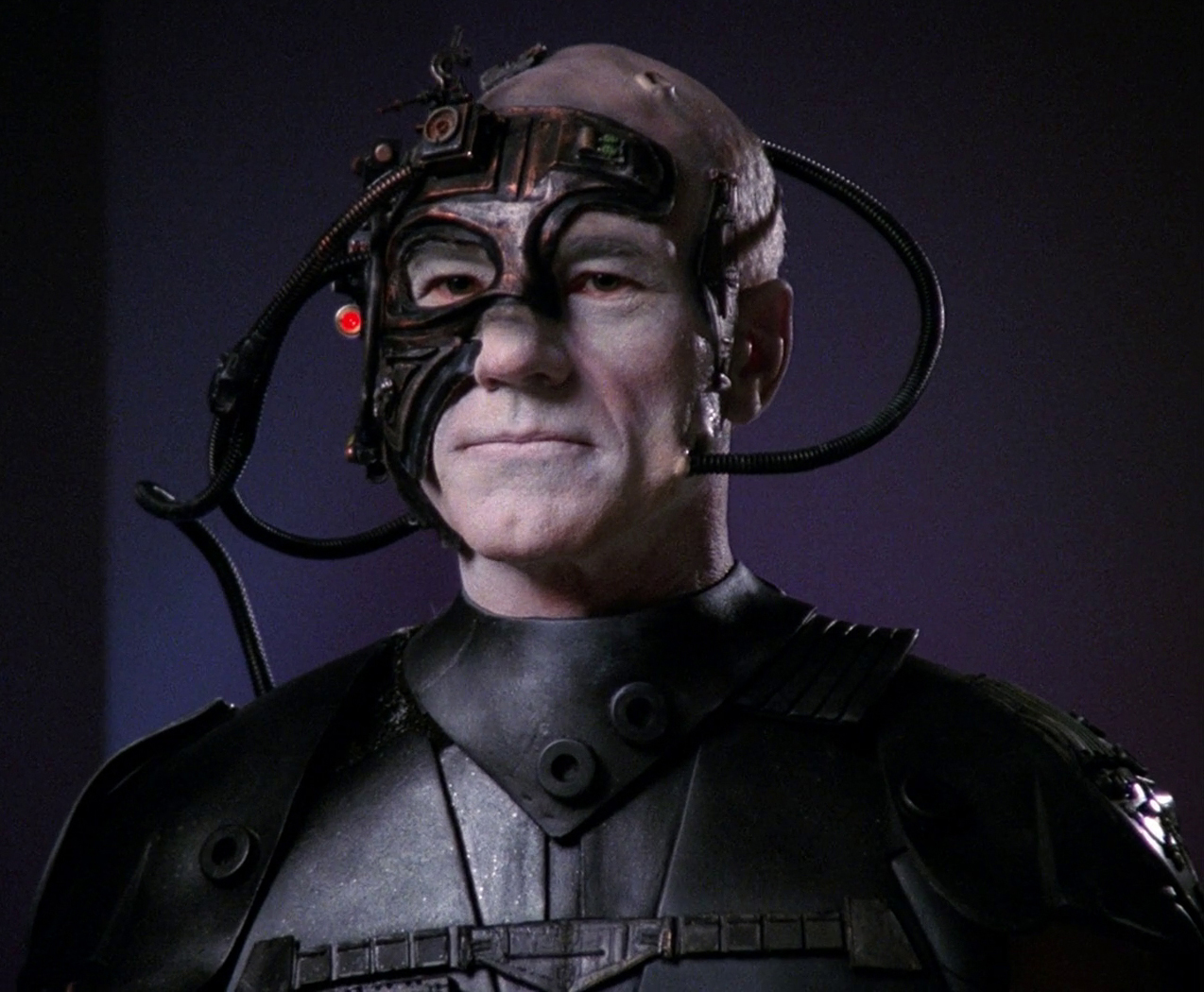Jean-Luc Picard as Locutus of Borg in 2367 (Star Trek: The Next Generation)