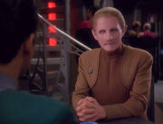 Odo talks to Julian Bashir