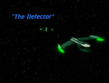The Defector title card