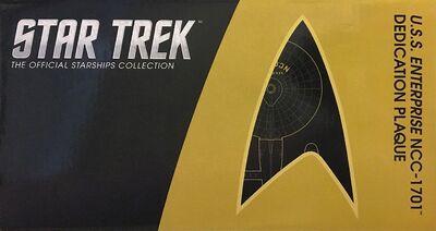 Raumschiffsammlung verpackte Widmungsplakette Enterprise (NCC-1701)