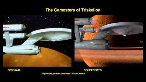 """TOS """"The Gamesters of Triskelion"""" - """"Les enchères de Triskelion"""" - comparaison des effets spéciaux"""