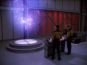 Transporter von Frachtraum 4 der USS Enterprise-D