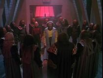 Worf faces the high council