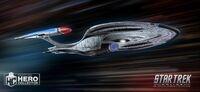 Eaglemoss USS Enterprise-F STO promo