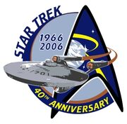 Star Trek 40th anniversary logo