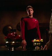Riker and apples
