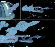 USS Enterprise balloon - inflating