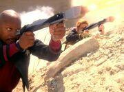 Sisko firing phaser rifle9
