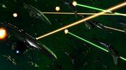 Battle of Vulcan fleet open fires