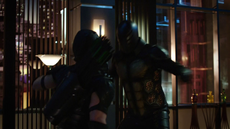 Green Arrow fights the bee-man