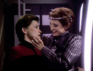 The Intendant and Evil Janeway