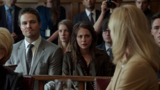 Oliver and Thea at their mother's trial