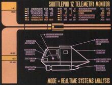 Shuttlepod telemetry monitor