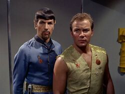 Kirk and Spock (mirror)