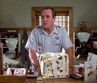 K as postal worker