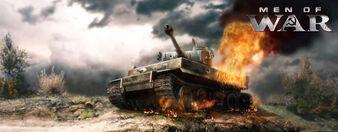 Fuego en el motor de un tanque
