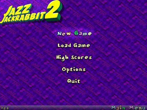 Jazz Jackrabbit 2 menu
