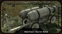 Cluster bomb munition (2)