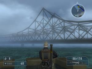 Boom! sinuiju-dandong bridge