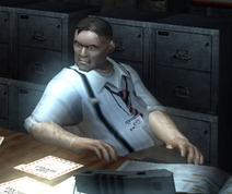 Buford at desk