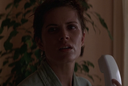 Stacey nervous at 1st apt, 6-12-1998