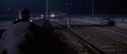 Simon wanders onto the tracks