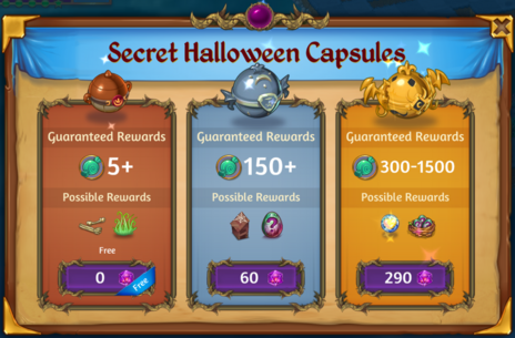 Secret Halloween Capsules