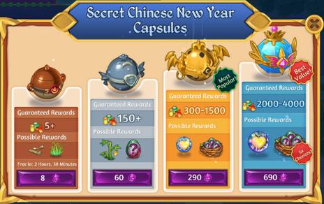 Secret Chinese New Year Capsules