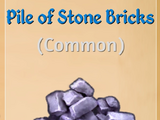 Pile of Stone Bricks