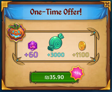 Halloween One Time Offer