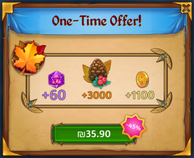 Thanksgiving One Time Offer